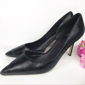 White House Black Market Reptile Pointed Toe Heels